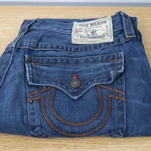 True Religion Red Lined Straight Flap 36 X 31